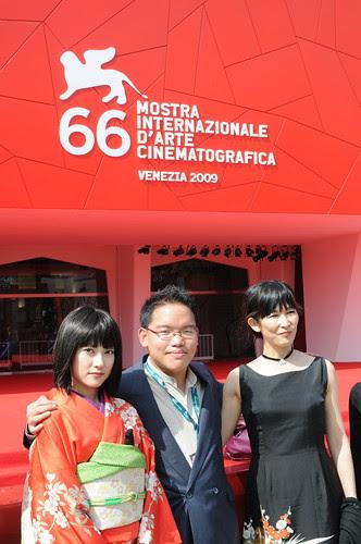 With my actresses Luchino Fujisaki and Qyoko Kudo at Venice Film Festival 2009