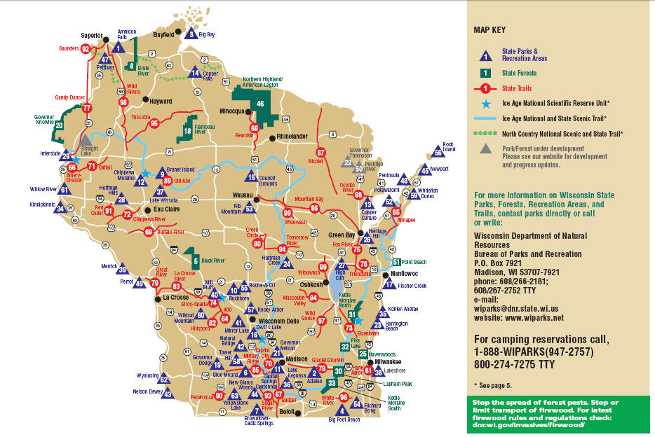 Wi State Parks Map Wisconsin State Parks Map | Bedroom 2018