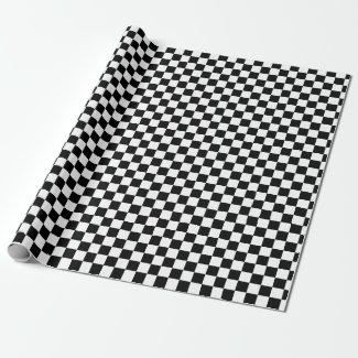 Checkered Black and White Gift Wrap