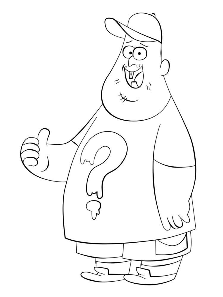 Gravity Falls Dibujos Animados Infantiles Para Colorear