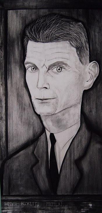 English: Portrait on wood panel of Irish write...