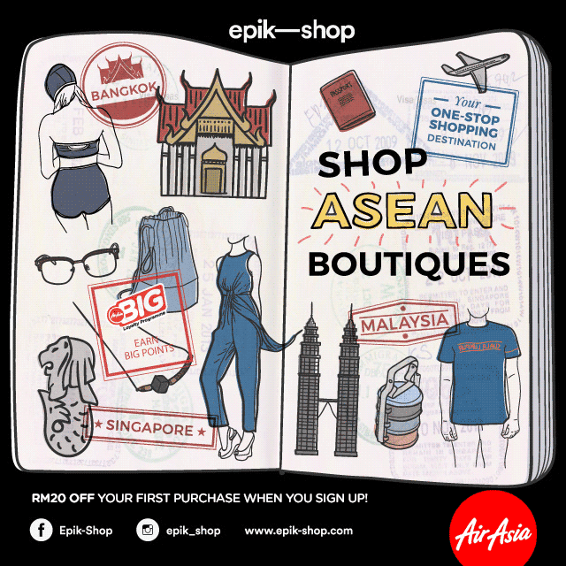 epik-shop: SHOP ASEAN BOUTIQUES - RM20 OFF YOUR FIRST PURCHASE WHEN YOU SIGN-UP
