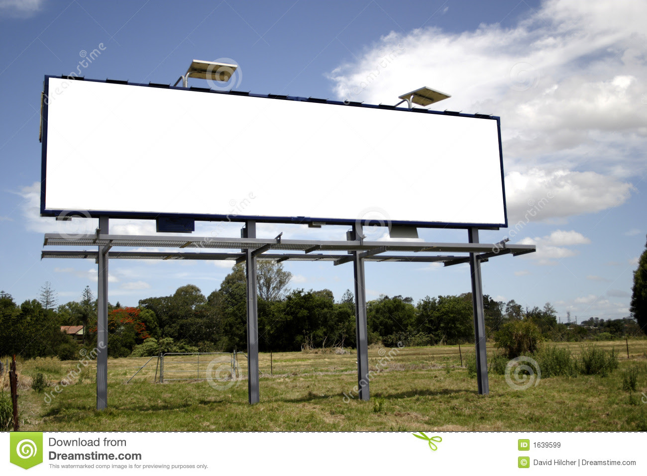 Blank Billboard Royalty Free Stock Images - Image: 1639599