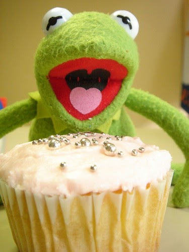 Kermit The Frog Eats A Cupcake