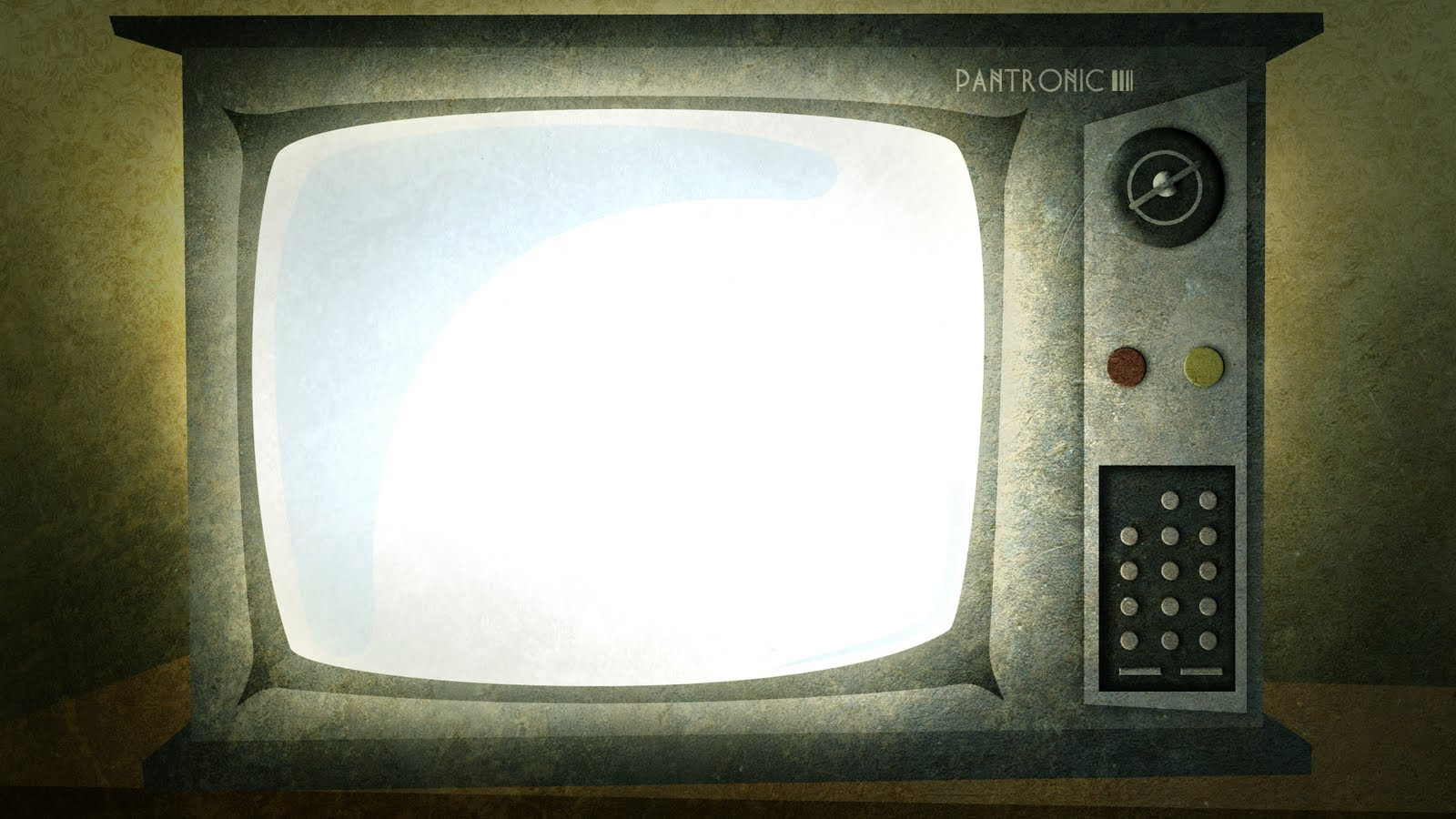 Old TV Set, Background Powerpoint 4235179, 1600x900  All