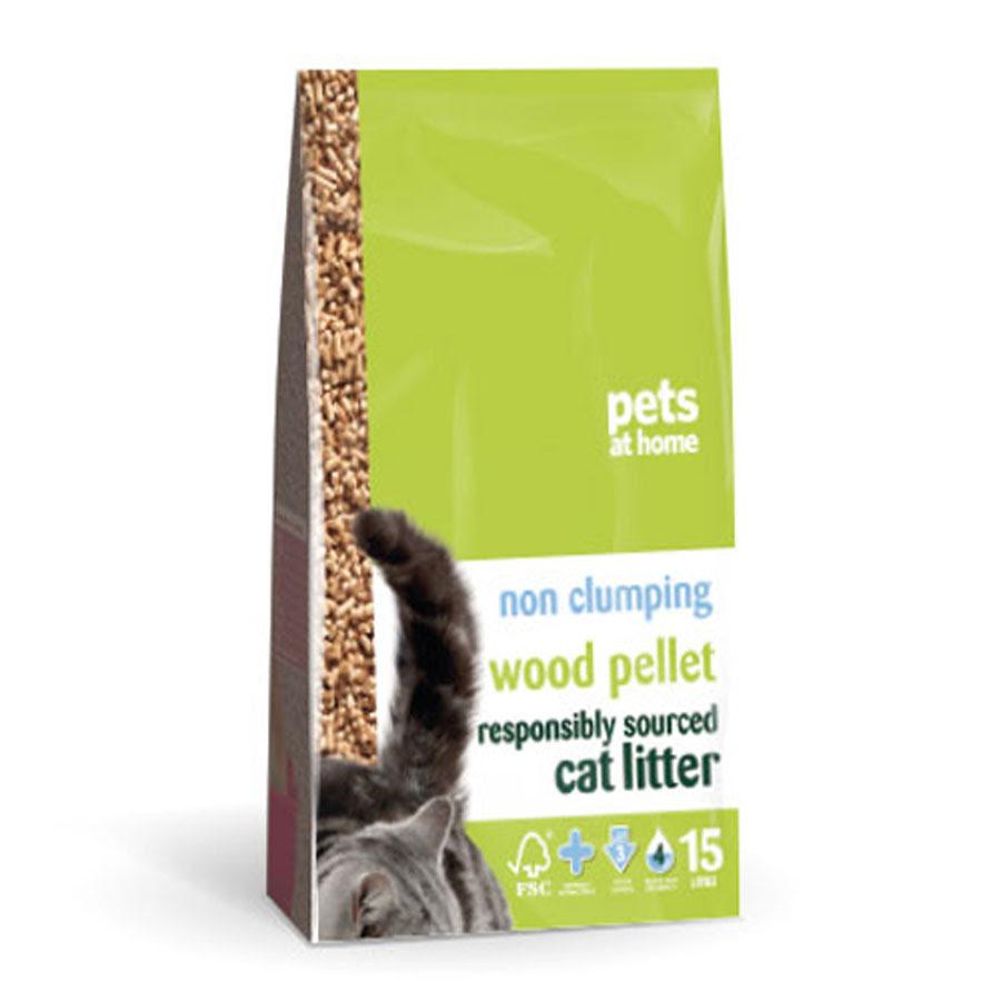 Pets at Home Wood Pellet Non Clumping Cat Litter 15L | Pets At Home