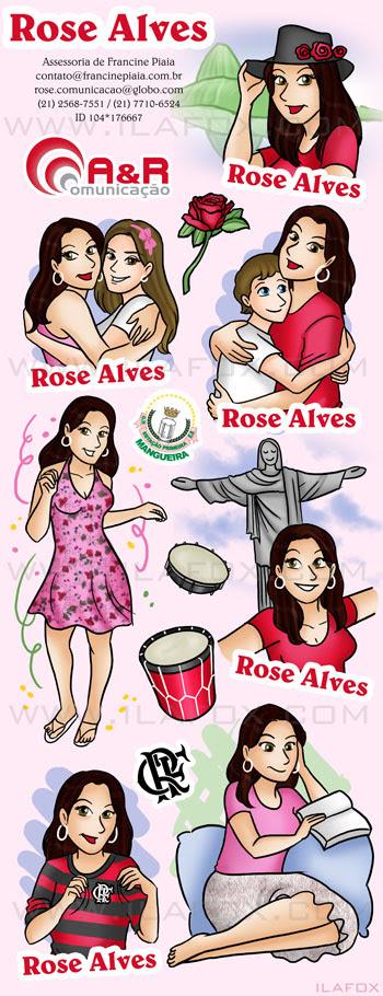 Background de Twitter Rose Alves, Assessora Francine Piaia, A&R Comunicação