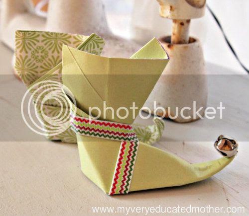 #NUO2012 Origami Elf Boot @mvemother