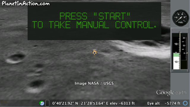 Recreate Neil Armstrong's Landing on the Moon in this Tough Video Game