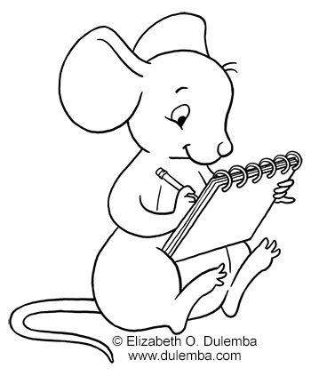dulemba Coloring Page Tuesday Drawing Mouse