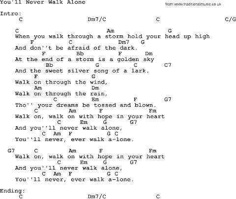 Youll Never Walk Alone Lyrics And Chords