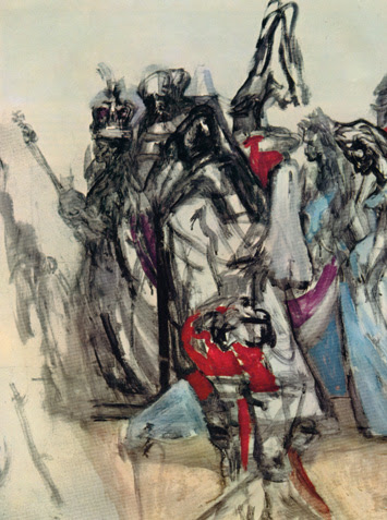 Feliks Topolski's painting of the Coronation of Queen Elizabeth (2nd part, 5th panel)