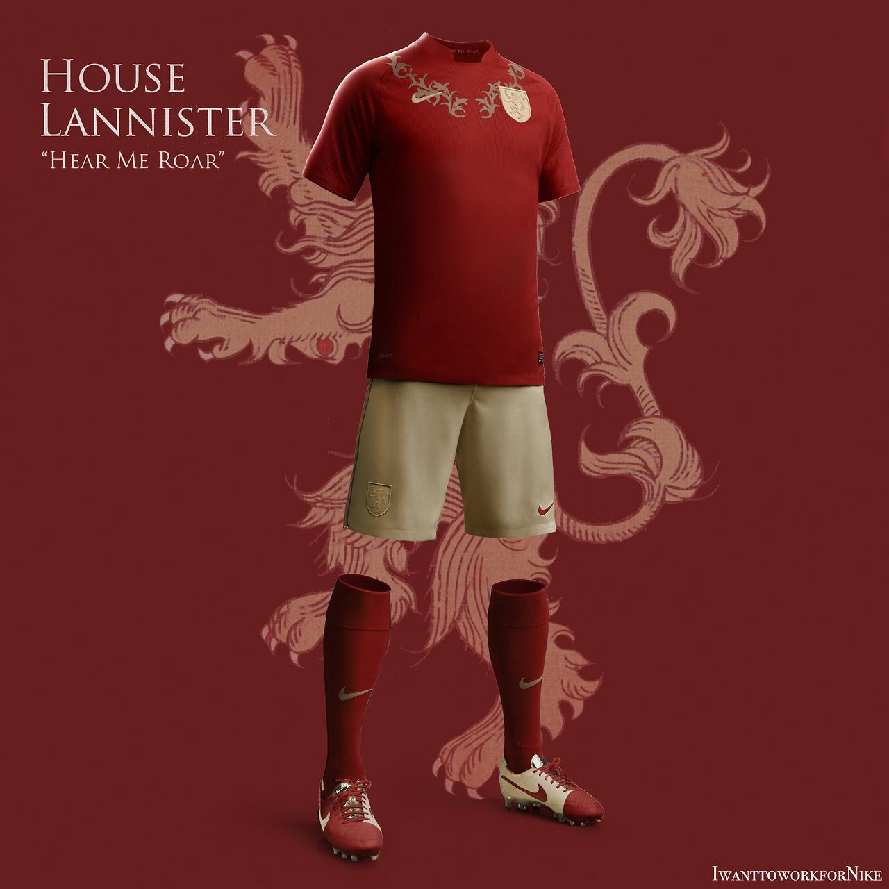 Equipaciones futboleras tipo Juego de Tronos - Lannister
