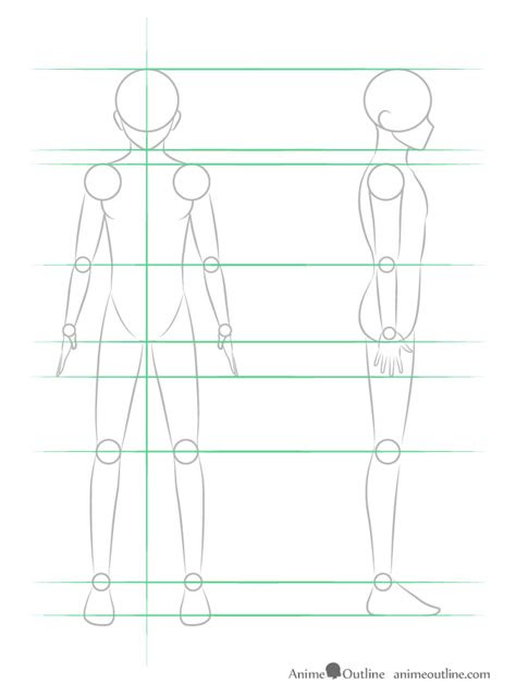 draw anime male body step  step tutorial