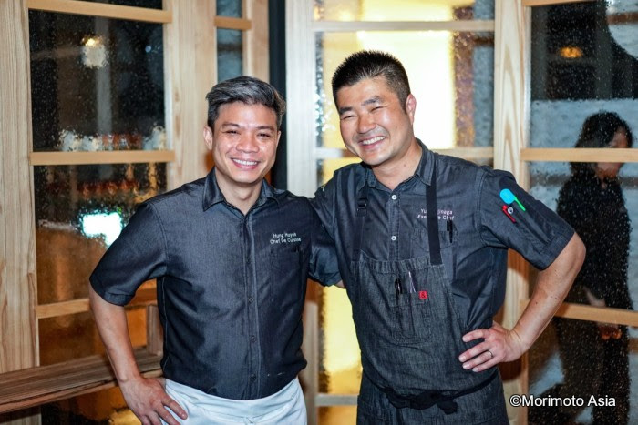 Chef Hung Huynh and Chef Yuhi Fujinaga