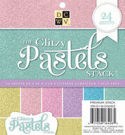 DCWV 6inchesx6inches Glitzy Pastels Stack�