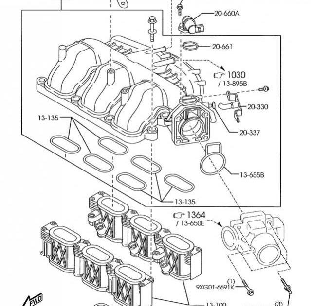 2001 Mazda Tribute Intake Manifold Gasket