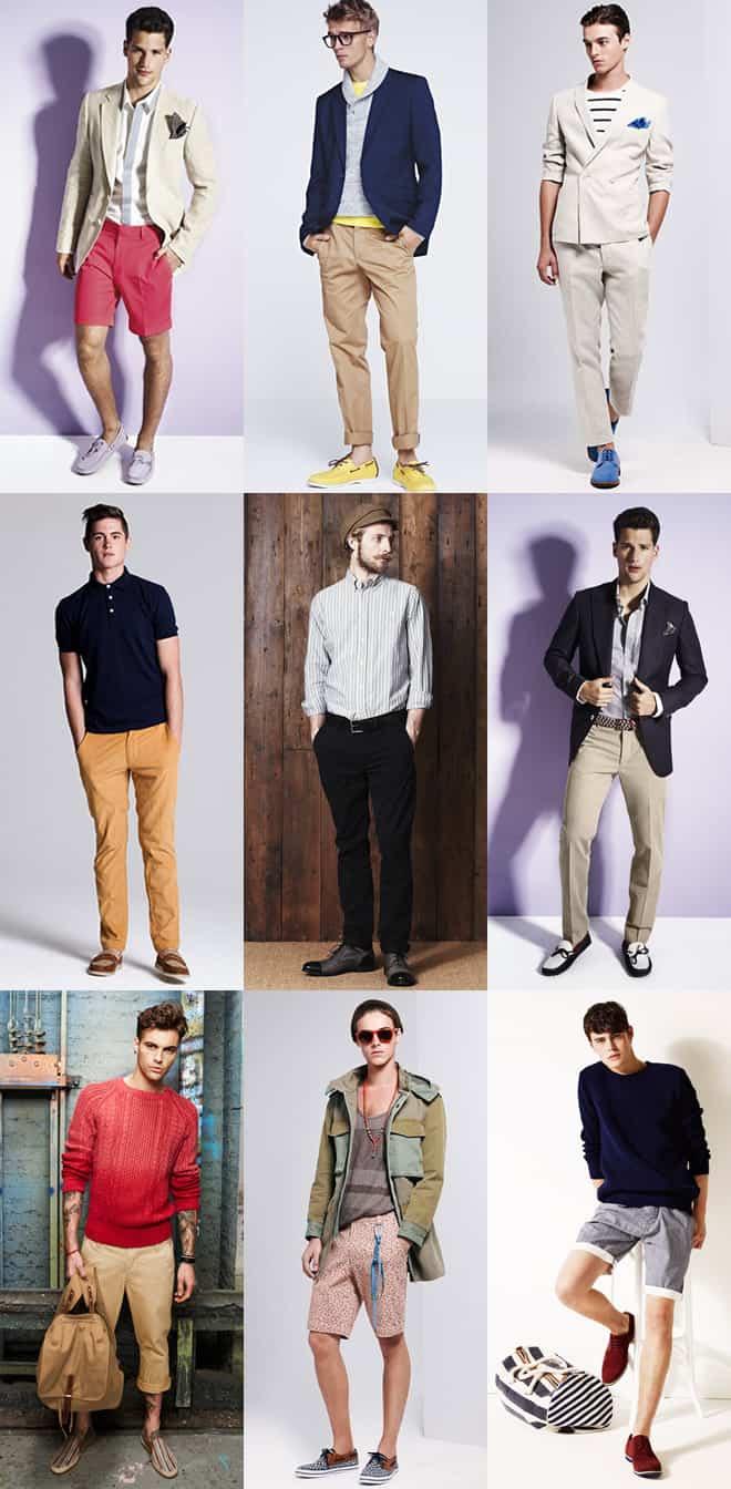 Men's Coloured and Patterned Footwear Lookbook