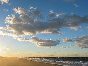 Cape Cod beach at sunset