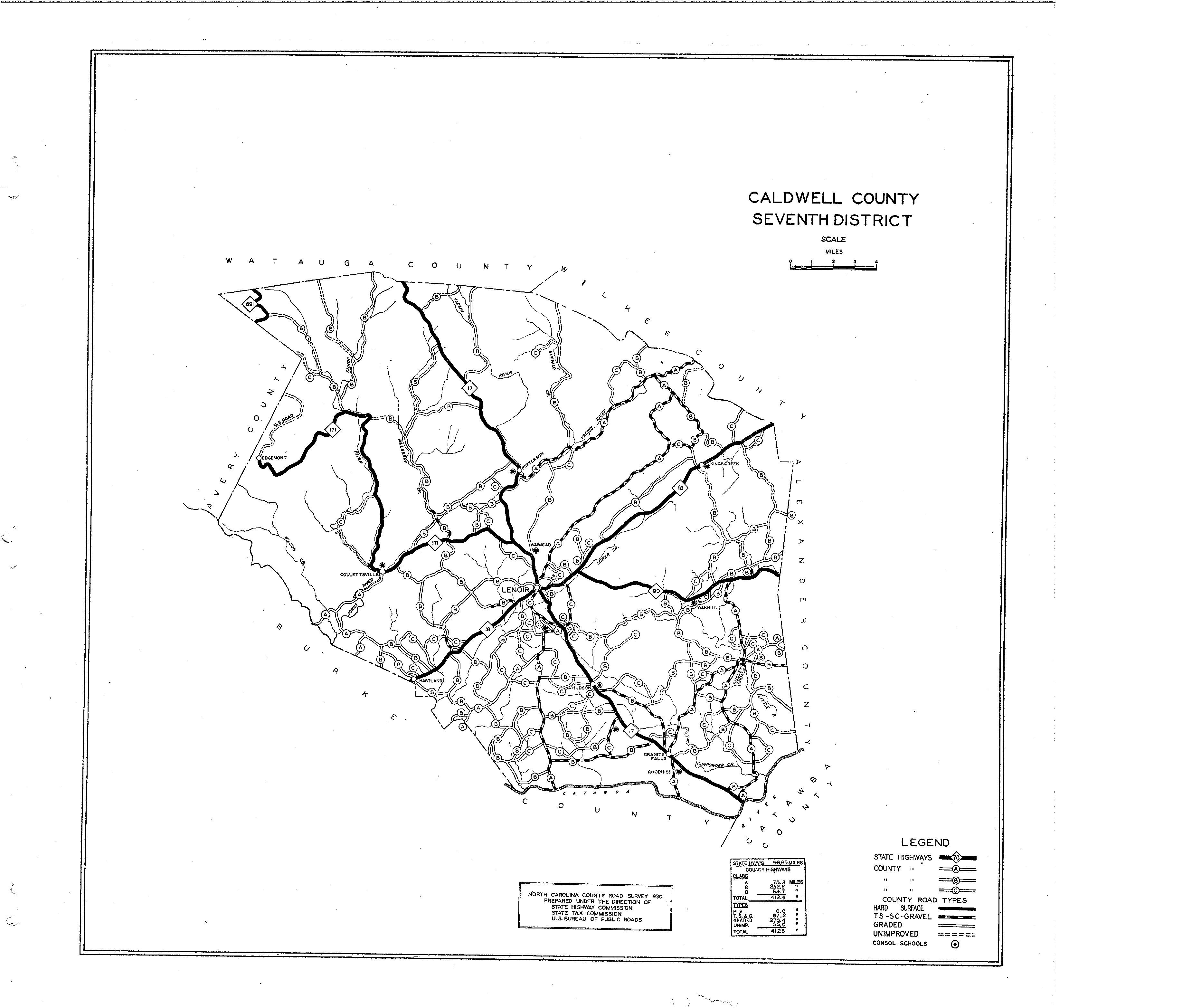 Caldwell County Maps