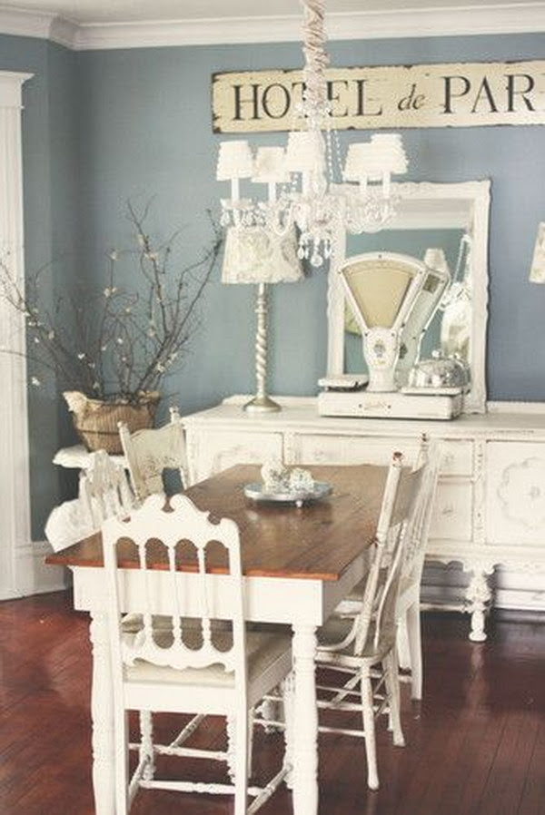 52 Shabby Chic Dining Room Ideas Awesome Tables Chairs And Chandeliers For Your Inspiration Page 19 Tiger Feng