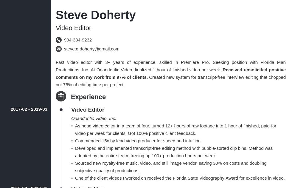 best font for business resume