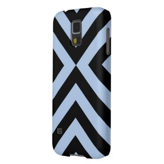 Light Blue and Black Chevrons Samsung Galaxy Nexus Cover