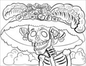 Dibujos De Día De Muertos Para Colorear Páginas Para Imprimir Y
