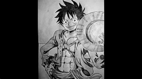speed drawing anime monkey  luffy  piece youtube