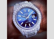 GOLDEN SUN JEWELRY: Rolex DateJust II 41mm fully flooded in pave set Russian cut diamonds
