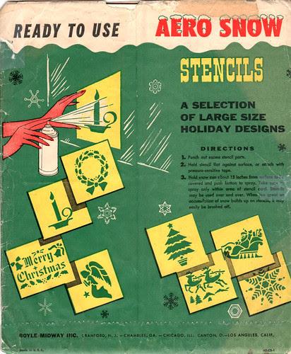 Aero Snow Christmas Stencils - back