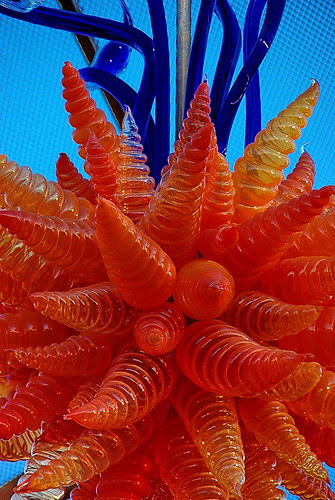 Chihuly Orange Chandelier - Desert Botanical Garden
