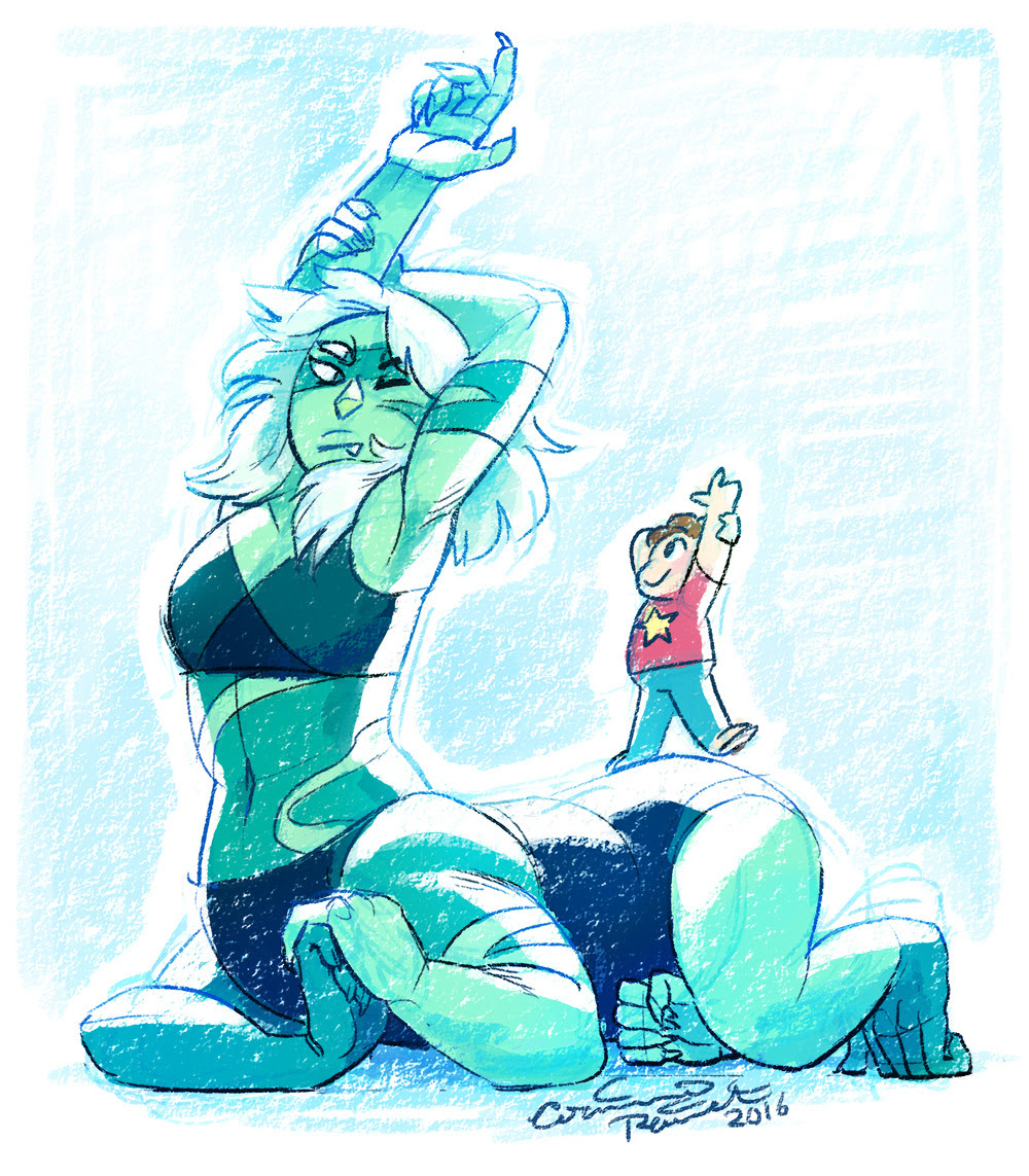 Stretching! Just a warm-up doodle I decided to toss color on last night :)