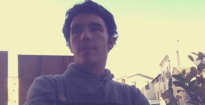 Iru Moner, conocido activista del entorno libertario en Barcelona