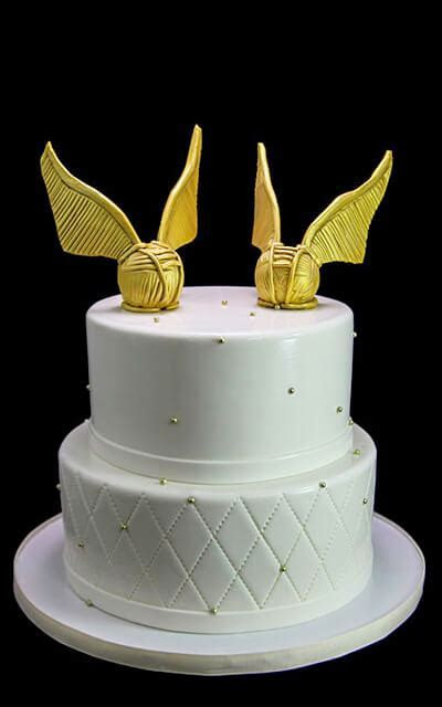 Golden Snitch Wedding Cake   Butterfly Bake Shop in New York
