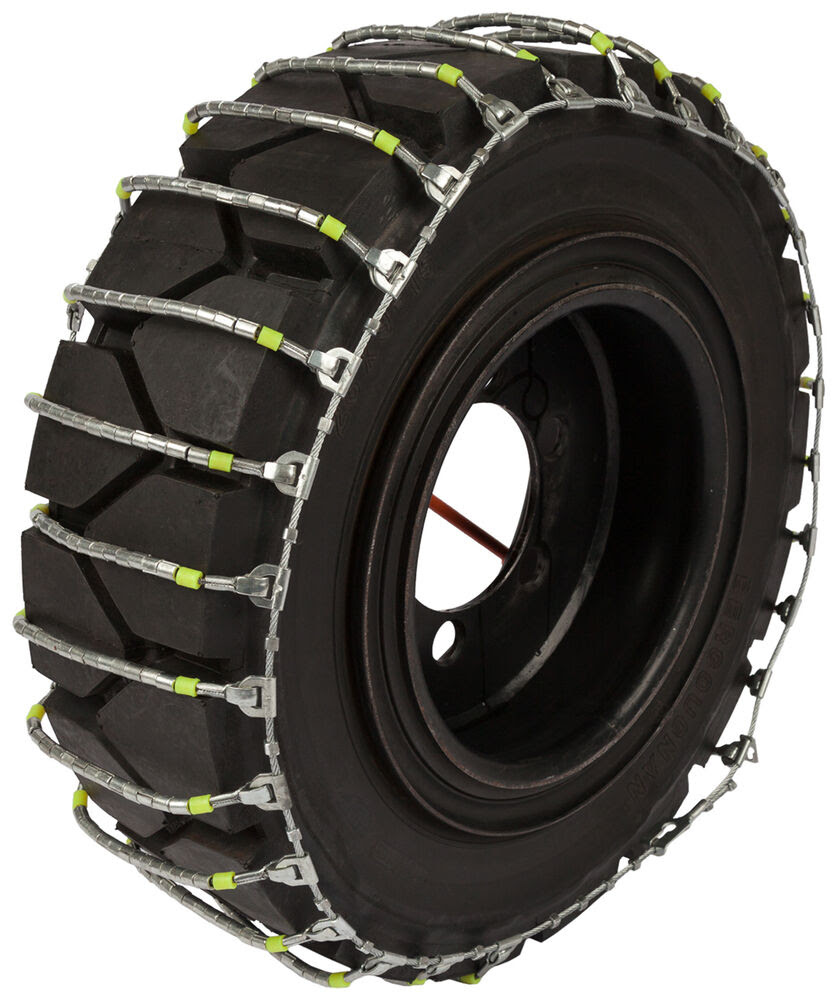 6 5x10 Forklift Cable Tire Chains Hyster Lift Truck Snow