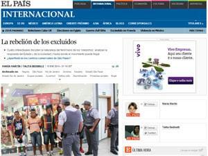 O espanhol 'El País' pediu para quatro intelectuais analisarem fenômeno (Foto: Reprodução/El País)