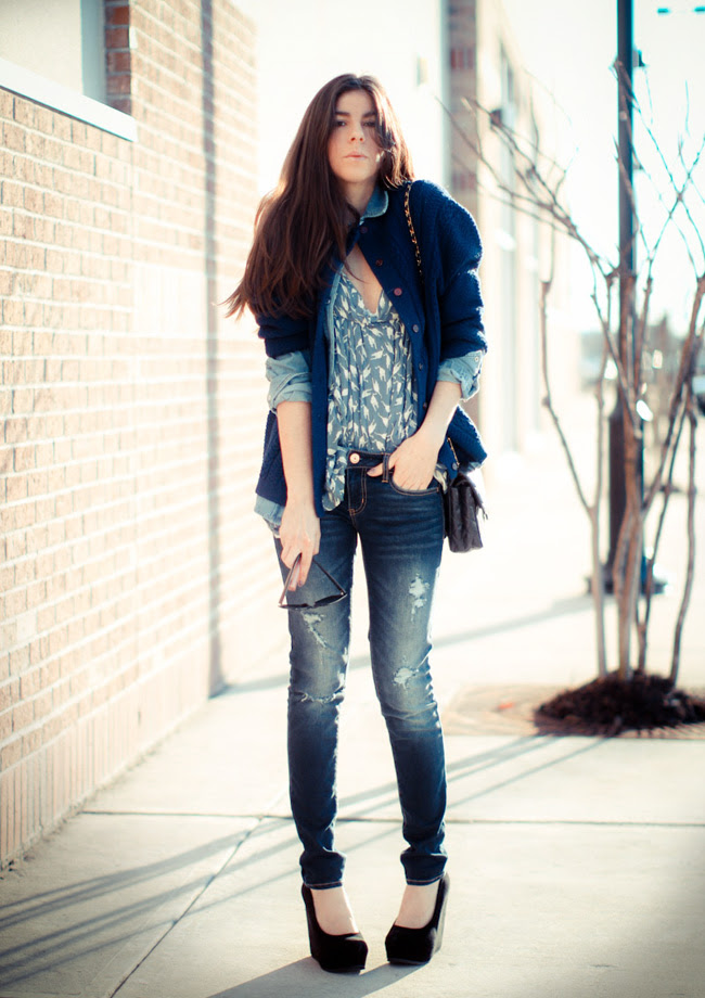 Chanel bag, American Eagle jeans, Miu Miu fashion