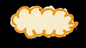 もくもく枠 オレンジ Atelier Funipo