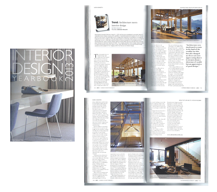 Interior Design Today Yearbook 2013 | Luxury Interior Designer in