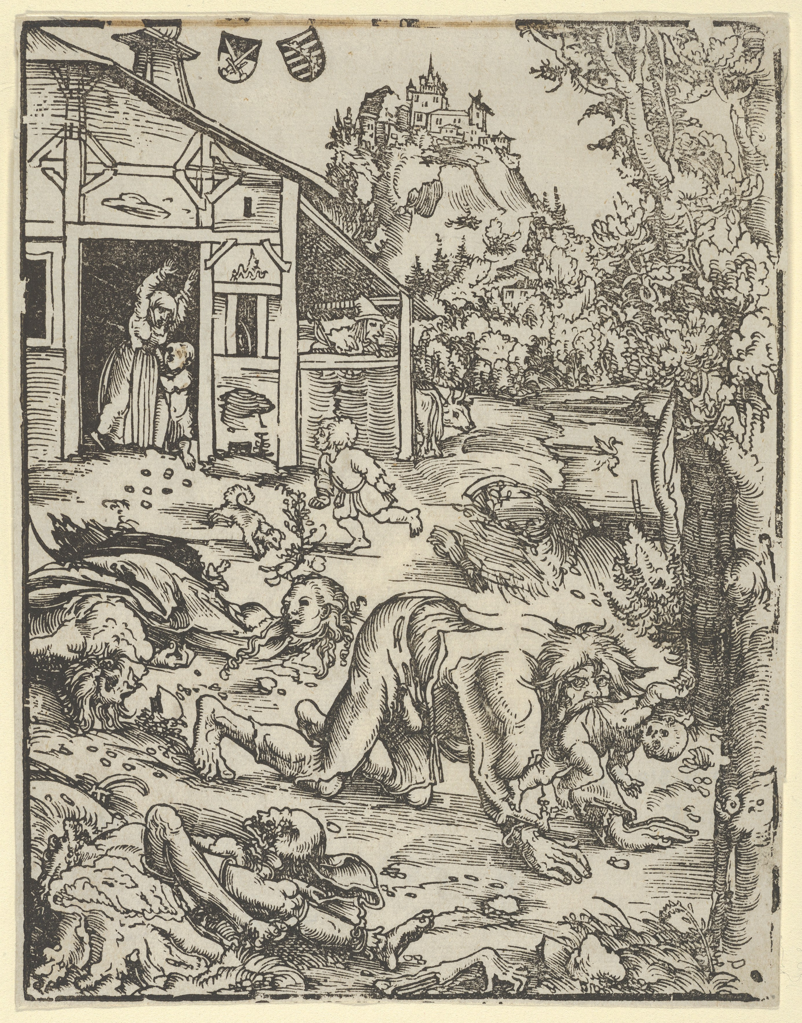 Image result for werewolf woodcut