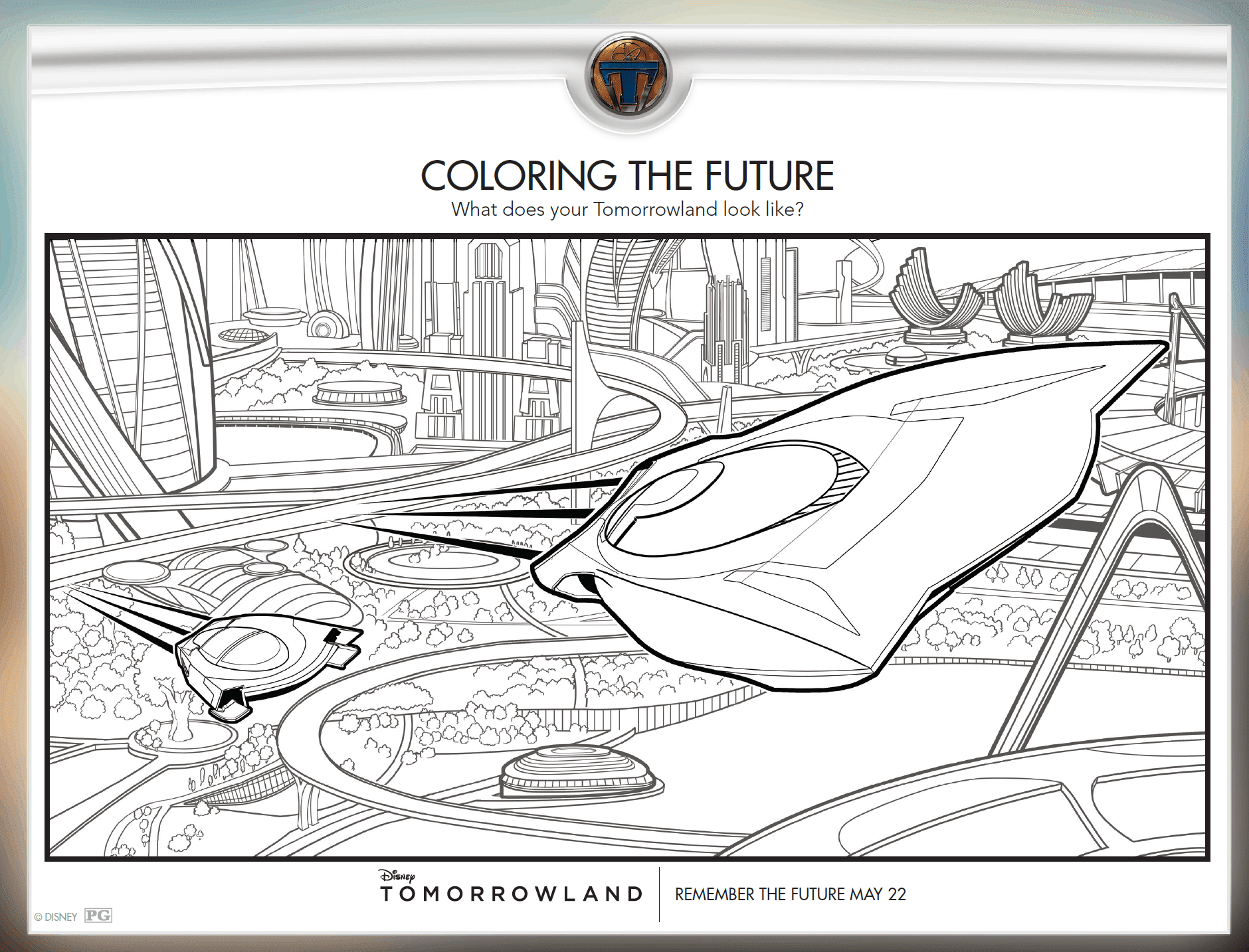 Tomorrowland Free Activity Sheets
