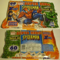 Marvel Hero Candy Sticks bag