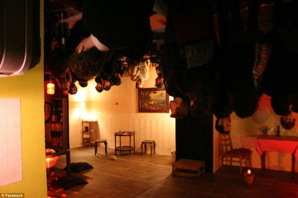 Hit the Ceiling: Madame Claude's in Berlin is decorated with chairs, furniture and lighting hanging upside down from the ceiling and walls