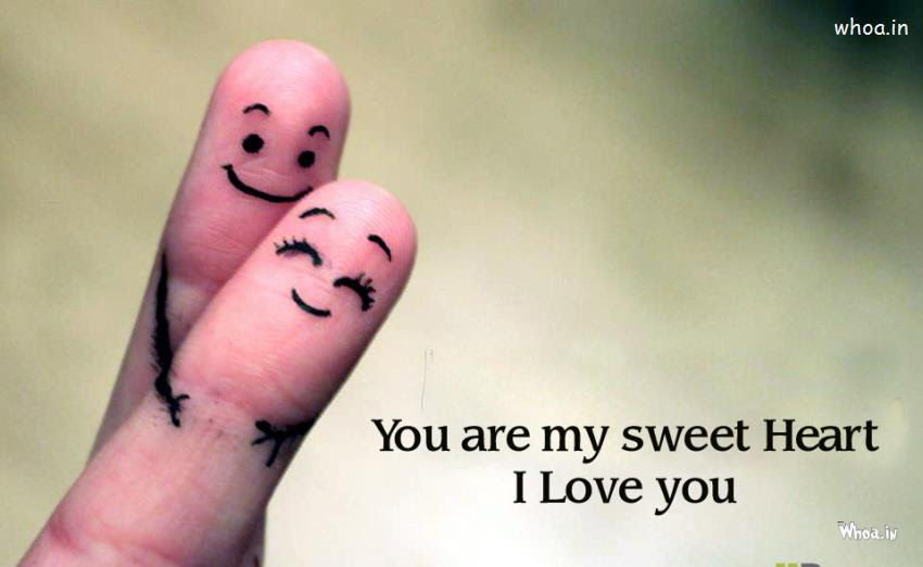 Two Fingers Love With Quotes Like I Love You Images