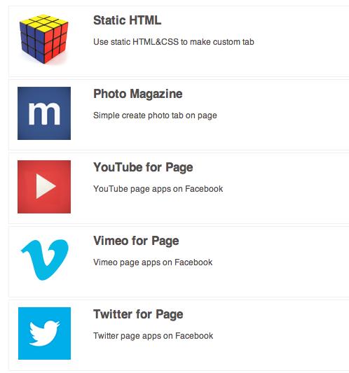 Añade pestañas de redes sociales fácilmente a la página de Facebook
