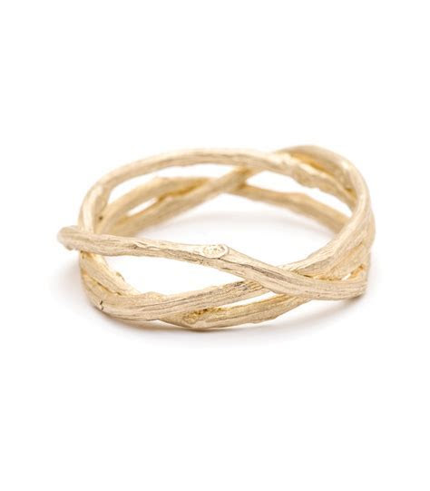 Earth and Sky   Woven Branches Wedding Band