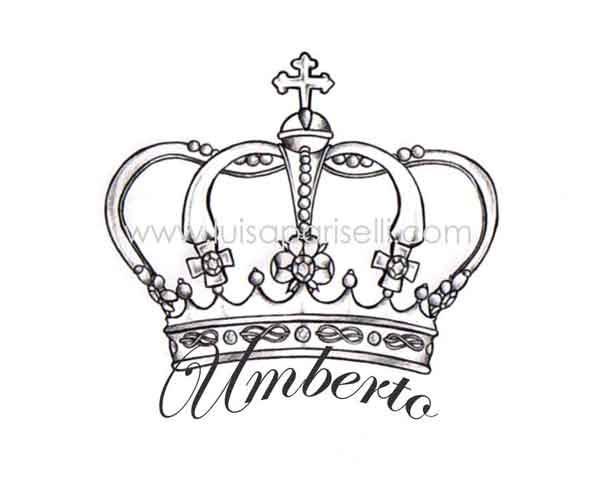 Umberta Crown Tattoo Design