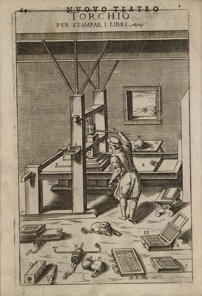 Torchio per stampar i libri