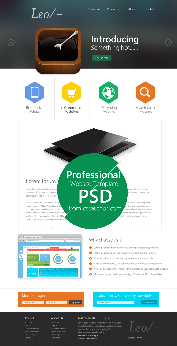20 beautiful web design template psd for free download web design professional website template design psd cssauthor 20 beautiful web design template psd for free download template wajeb Choice Image
